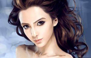 beautiful digital vr girl ideal female