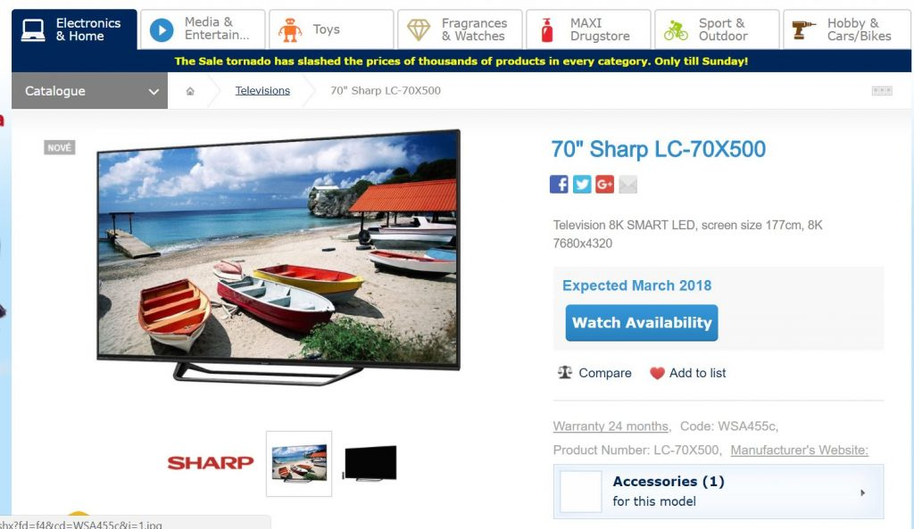 Sharp 8K TV