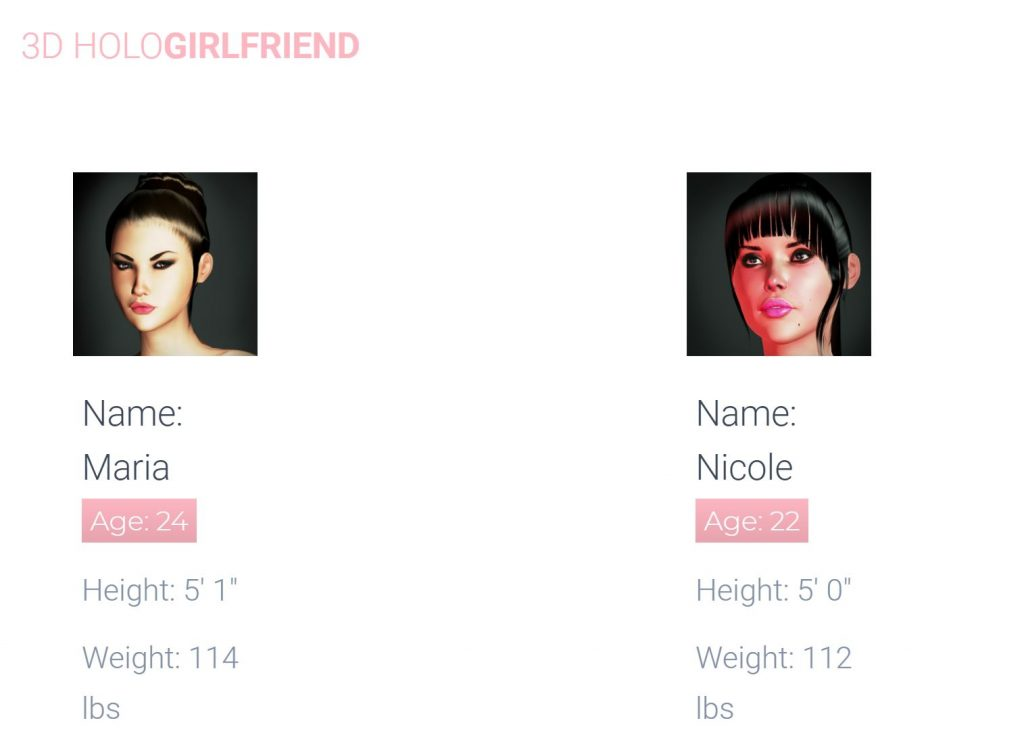 3D Holo Girlfriend