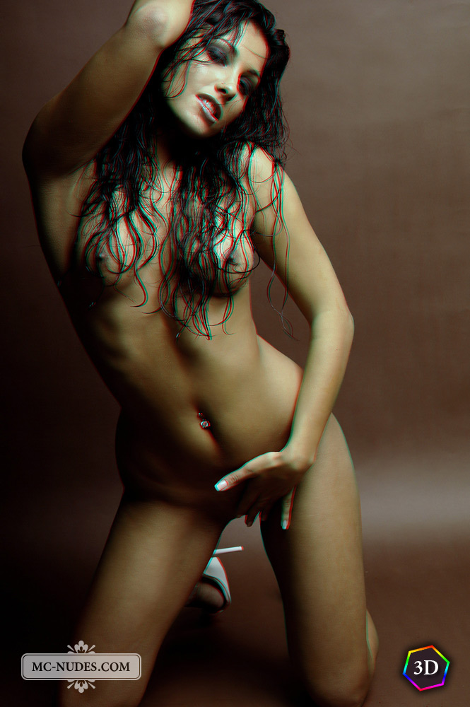 Anetta Keys 3D anaglyph nudes