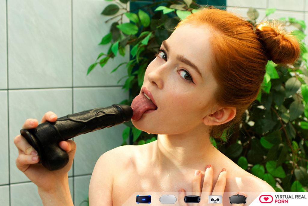 Jia Lissa trying black dildo cock