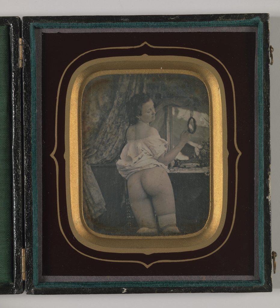 nude with a mirror ca. 1850 erotic daguerreotype