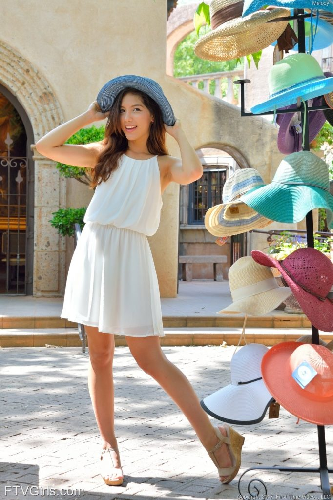 pretty teen girl dress and hat
