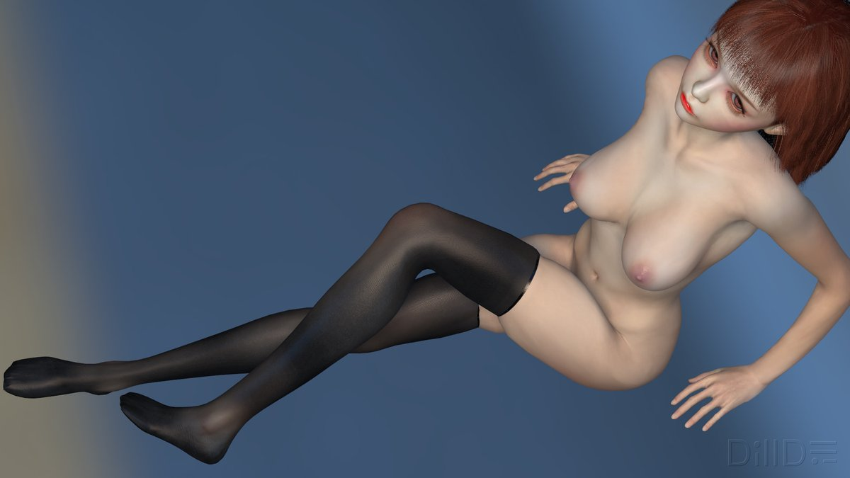 busty 3d digital vr girl wearing nylon