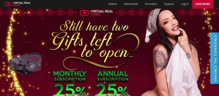 VirtualRealPorn Xmas 2018 VR porn deal