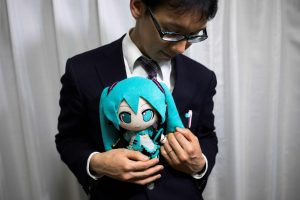 digisexual marries hologram Hatsune Miku