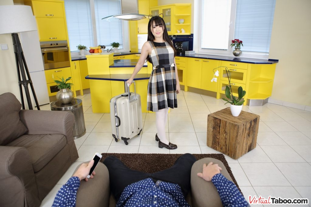 Japanese stepdaughter VR sex movie