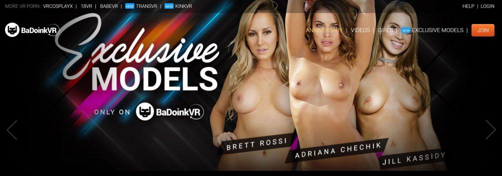 BadoinkVR - exclusive models banner
