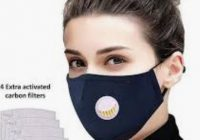 beautiful woman wearing a coronavirus protection mask