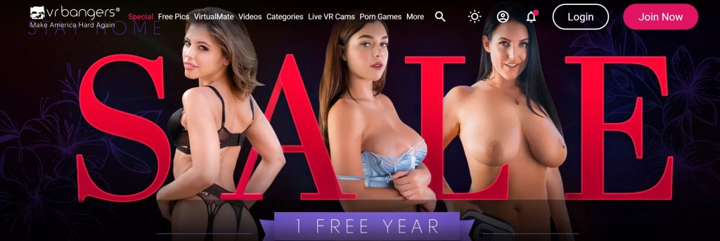VR Bangers Sale - One Year Free