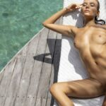 nude young Russian girl naked sunbathing outdoor VR porn