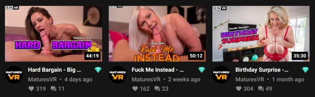 MaturesVR first 3 videos