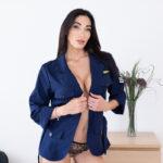 sexy flight attendant girl VR sex