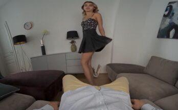 Elena Vedem pretty Russian teen girl in dress ready for sex
