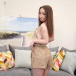 Kate Quinn Euro VR porn model clothed shorts